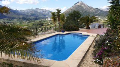 Photo for Newly Refurbished 3 Bedroom Villa with Pool overlooking the Orba & Jalon Valleys