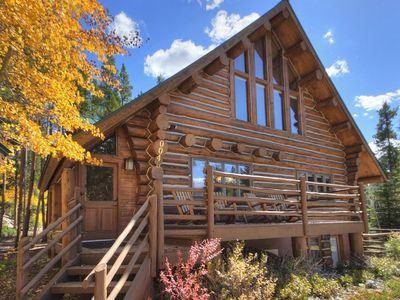 Photo for Distinct Colorado Log Home only 2 Miles to Skiing and Breckenridge Main Street