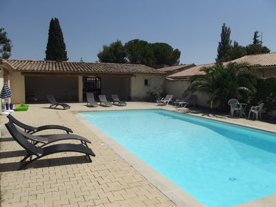 Photo for Renovated Provencal house with swimming pool, garden & stunning view