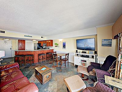 Photo for New Listing! Oceanfront Condo w/ Beach Views, 2 Pools, 4 Hot Tubs & Arcade