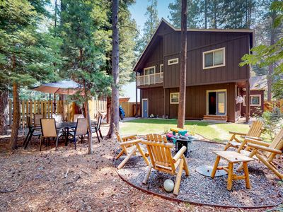 Photo for NEW LISTING! Bright cabin w/enclosed yard & fireplace-near skiing & Lake Tahoe