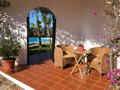Photo for Hilltop villa with stunning views and lovely pool. Inc. air-con,