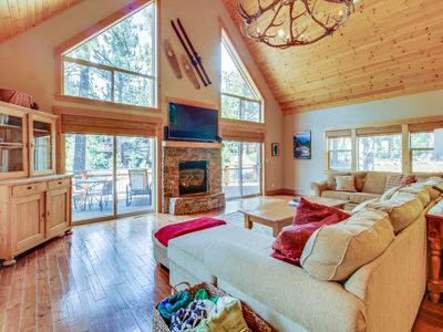 Photo for Spacious cabin near year-round outdoor activities - shared pool & hot tub access
