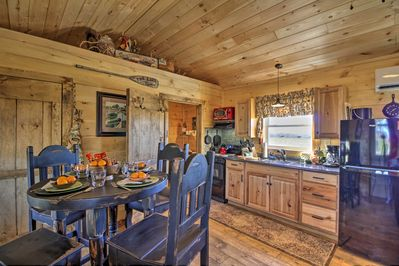 The smell of wood and rustic decor welcomes you to the country.