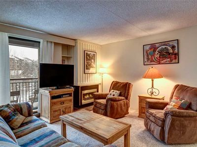 Photo for Extremely convenient ski-in/ski-out, Quick walk to downtown Breckenridge, Private balcony!
