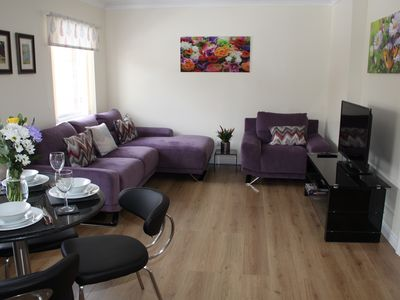 Photo for City Centre Apartment with Riverside Walks and Free Parking - P24HK