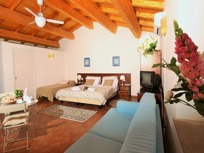 Photo for ETNA - ONE ROOM APARTMENT - SWIMMING POOL - SURROUNDED BY VINEYARDS