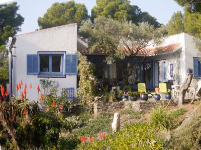 Photo for Family house sea view, cove edge, nice patio, large garden