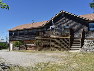 Photo for Huge deck, spacious living, and sunset views! (12R Old Point) - Two Bedroom Cottage, Sleeps 6