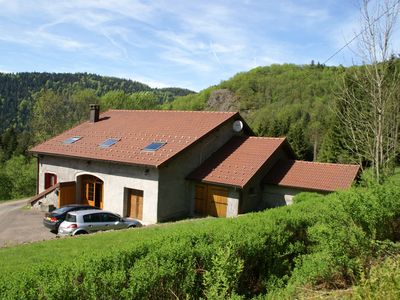 Photo for Renovated farm with garden in the mountains of large nature