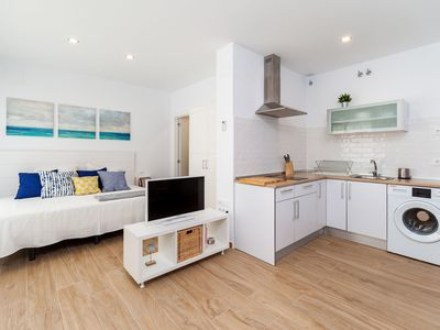 Photo for Modern Studio Apartment In City Centre Close to Beach with Air Conditioning