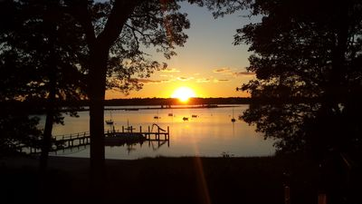 Sunset view from main house patio. Perfect for outdoor dinners and entertaining