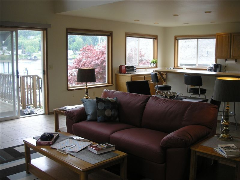 Living Room Couch Opens Up To Comfy Bed (sleeps 2) And Is Open To