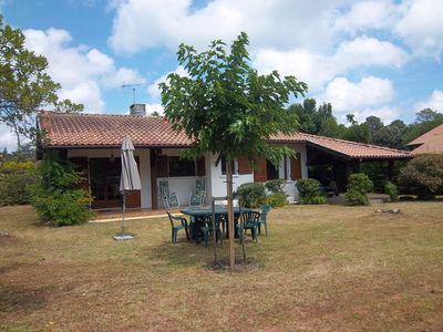 Photo for Holiday home with family or friends, barbecue - 800 m² of enclosed garden -SAINTE EULALIE EN ...