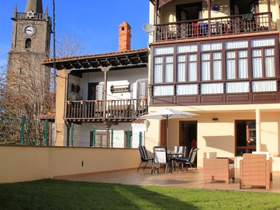Photo for ground floor apartment in the historic center of comillas with private terrace