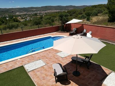 Photo for VILLA WITH POOL, BEAUTIFUL VIEWS TO THE TOWN AND BEACH AT 30 MIN FROM PORT AVENTURA