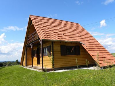 Photo for Beautiful chalet in quiet location with magnificent view in mountain area of the Moselle