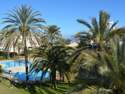 Photo for Apartment directly by the sea with Wifi, 2 bedrooms, 2 air conditioners, 2 pools, mountain and sea view