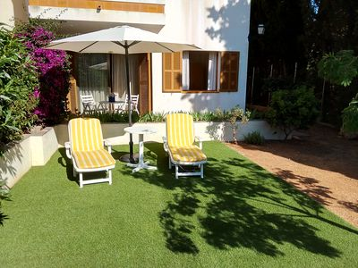 Photo for Attractive apartment with private garden, very quiet in the Port de Sóller