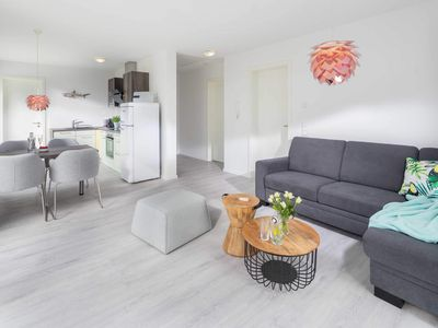 Photo for Deichfeeling with separate bedrooms, daylight bathroom and south-facing balcony - Wohnpark Living by the sea in Norddeich