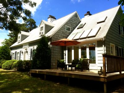 Long Pond Waterfront Colonial Cape. In relaxing setting.