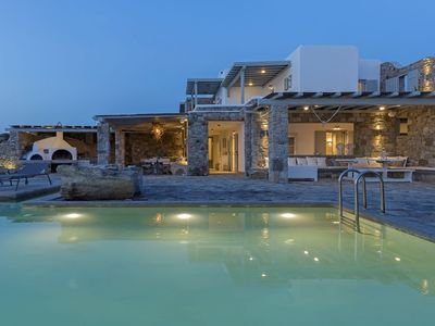 Photo for Marvellous 6 Bedroom Mykonos villa, Lotus. Contact for best rates & complimentary concierge service!