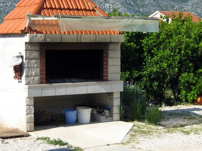 Photo for Two bedroom apartment with terrace and sea view Kneža, Korčula (A-4342-b)