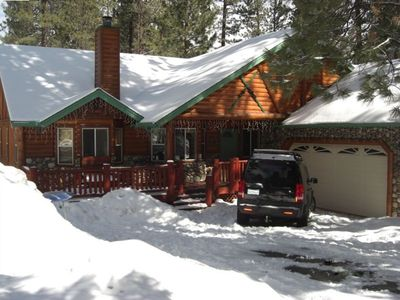 Photo for Luxurious home and perfect LOCATION!! Walk to Snow Summit, Hot Tub