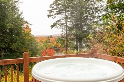 Hot Tub Overlooking Tupper Lake