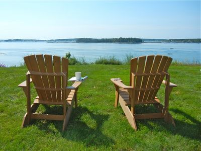 Enjoy your morning coffee with a magnificent view from the front yard.