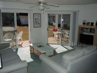 Photo for Beautiful Ground Floor Two Bedroom Condo just steps from the Pool!