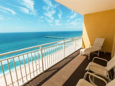 Photo for Waterfront condo w/ expansive vistas from the balcony plus a shared pool!