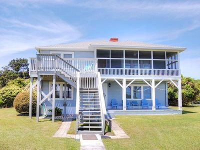 Oceanfront pet friendly home in secluded section of Myrtle Beach.  Great for family get togethers...