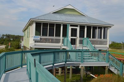 Front of House; this side faces the water.