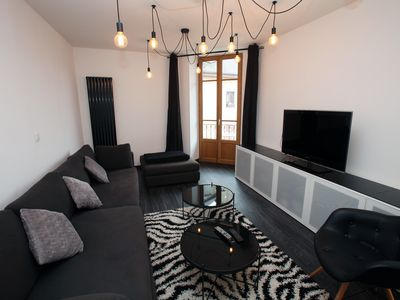 Photo for La Venise des Alpes, 2 bd apartment with sauna