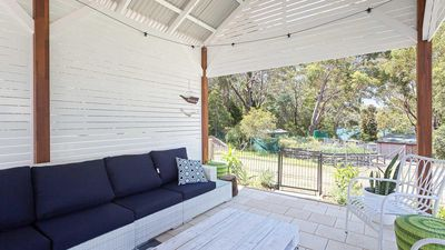 Photo for Little Beach House, 4 James Crescent - Little Beach with air con, WiFi and boat parking