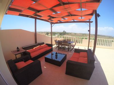 Photo for Seaview apartment - huge balcony, 3 bedrooms, 2 bathrooms and home from home.