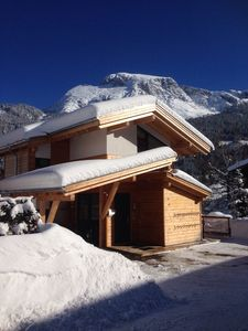 Photo for Modern chalet with a unique view directly on the ski slopes