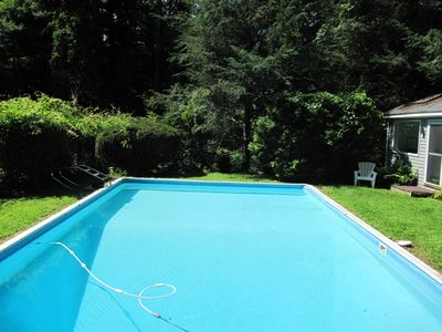 20x40 pool with side picture of the pool house
