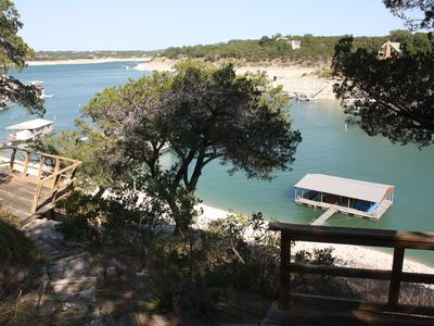 Photo for Lake Travis Waterfront Home with Large Private Dock on Deep Water Cove!