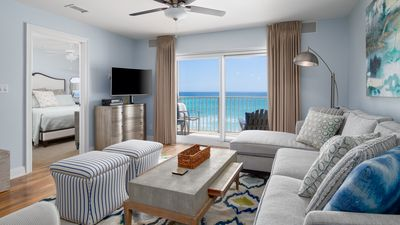 Photo for 20% Off thru 4/17! Trendy Beachfront Gulf View, Pool, Beach Service (Mar-Oct)