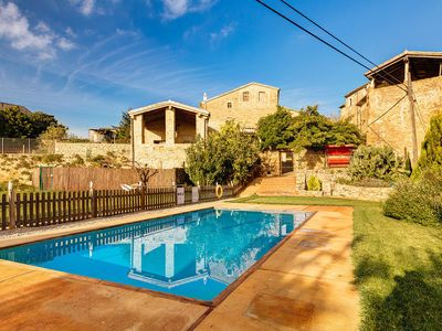 Photo for Restored farmhouse with large garden, pool and large covered terrace