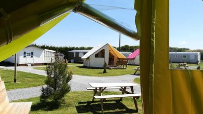 Photo for Camping d'Etennemare *** - 3-room canvas bungalow for 4 people