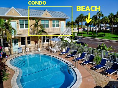 Steps from beach! Beach views from side and rear of condo. Bay views from front.