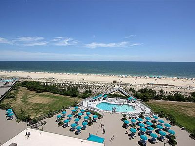 Photo for 901S: 2BR Sea Colony Oceanfront Condo | Private beach, pools, tennis ...