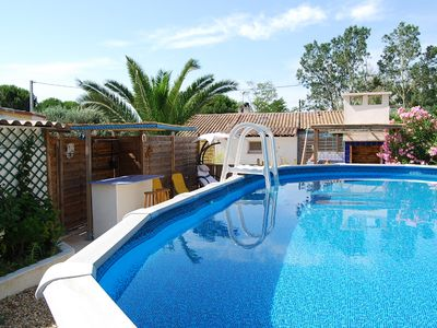 Photo for SOLE! Villa WC. Standing. Private pool. Beach. Quiet. 4 p. Grau D'Agde