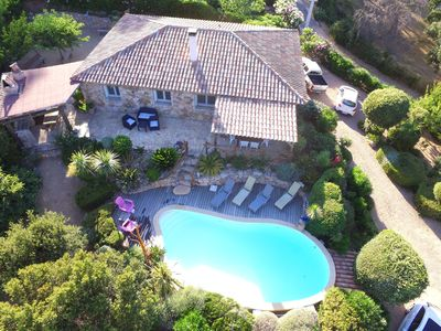 Photo for quiet house with swimming-pool with nice view on the sea and moutain