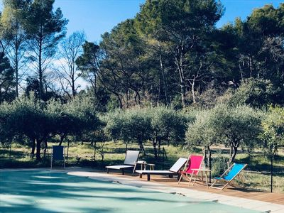 Photo for Luberon: charming house surrounded by olive trees