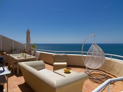 Photo for Top Floor 3 Bedroom Penthouse Apt With Sea Views And Immediate Access To Beach