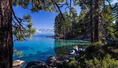 Photo for Lakeside Tahoe Condo For 2! Private Beach, Heated Pool & Relaxing Hot Tub!